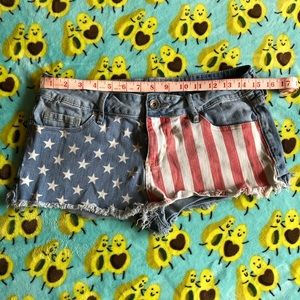 Bullhead Black American Flag Shorts